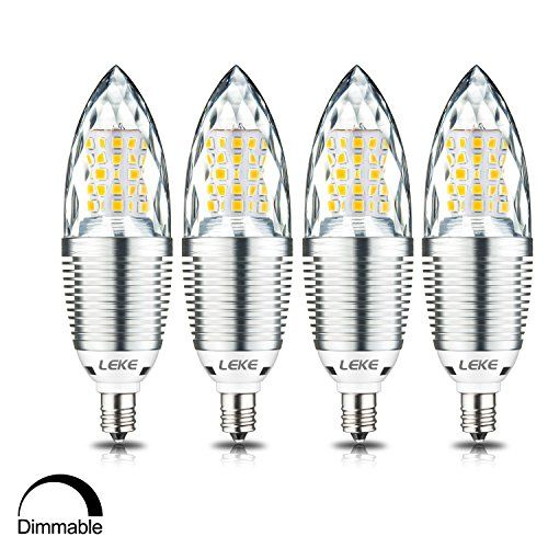 LEKE Dimmable LED Candelabra Bulb 10W LED Candle Bulb 3000K Warm White 1000lm 85-100 Watt Light Bulbs Equivalent Incandescent E12 Candelabra Base Torpedo Shape Bullet Top(4 Pack) #LEKE #Dimmable #Candelabra #Bulb #Candle #Warm #White #Watt #Light #Bulbs #Equivalent #Incandescent #Base #Torpedo #Shape #Bullet #Top( #Pack)
