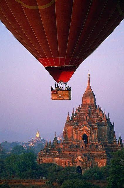 Balloon ride over the Temples of Bagan, Myanmar (Burma)