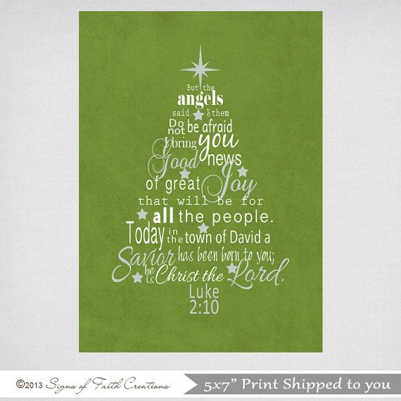Christmas Tree In The Bible Scripture: Christmas Tree Printable Scripture Art With Luke 2 Bible