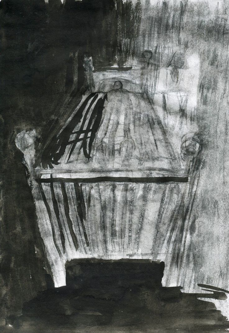 Illustration to Kafka´s Ortel by Julie Čermáková