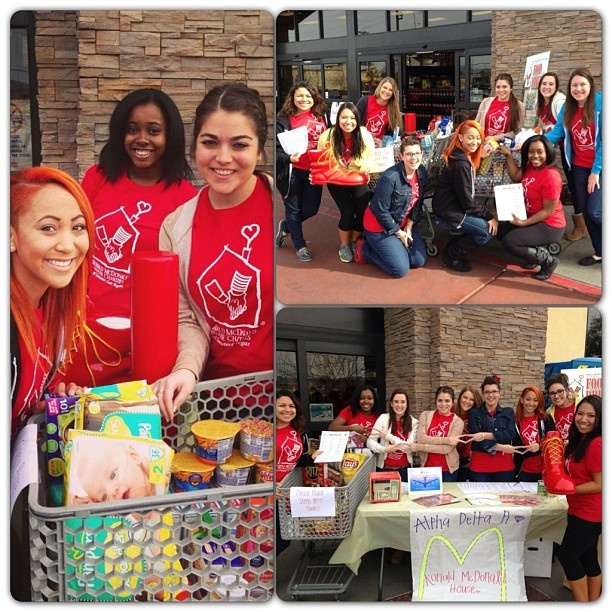 ADPi Of UNLV Hosted A Canned Food Drive For The Ronald McDonald House.