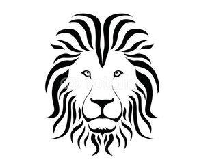 Line Drawing Lion Head : Angry lion head mascot roaring vectors