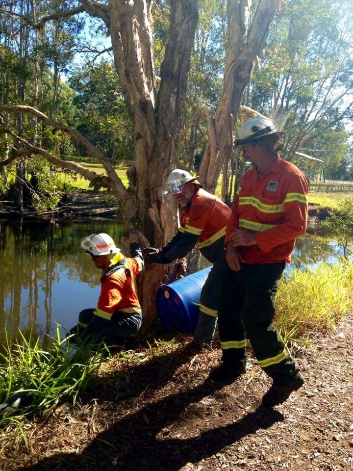 Fire training with responsible adults. Beerburrum, Queensland