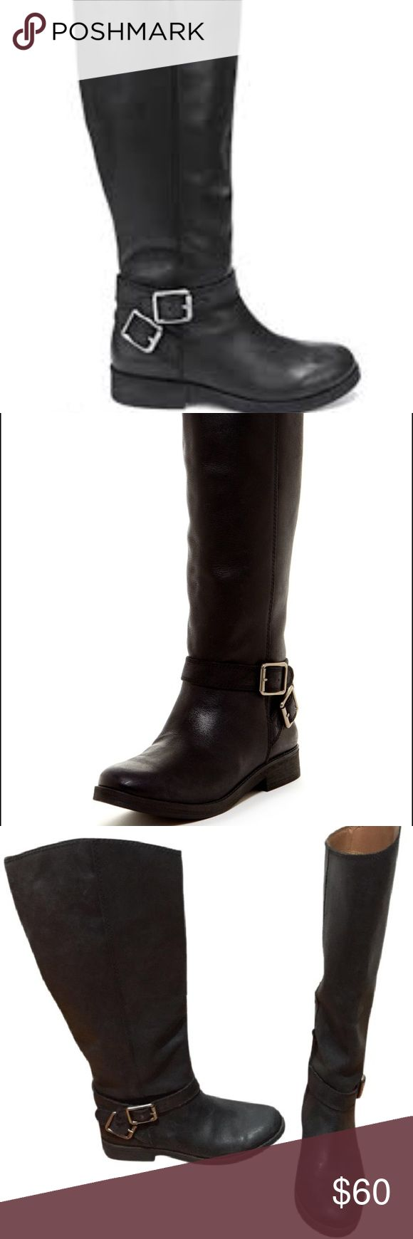 Lucky Brand Falta women riding boots Lucky Brand Falta women riding boots. All leather riding boot, great condition. Small almost unnoticeable gold streak on the back of left boot. Please see pictures Lucky Brand Shoes Winter & Rain Boots