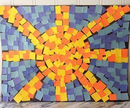 mosaic art for kids - mosaic sun and sky