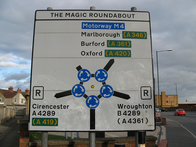Magic Roundabout Swindon, How I hated driving through this roundabout, once mastered a piece of cake though.