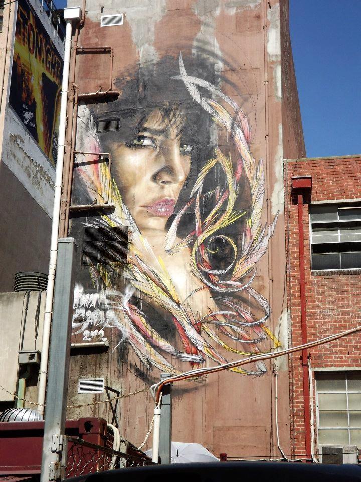 Artiste : Adnate, More street art & graffiti : http://mescablog.com #streetart jd