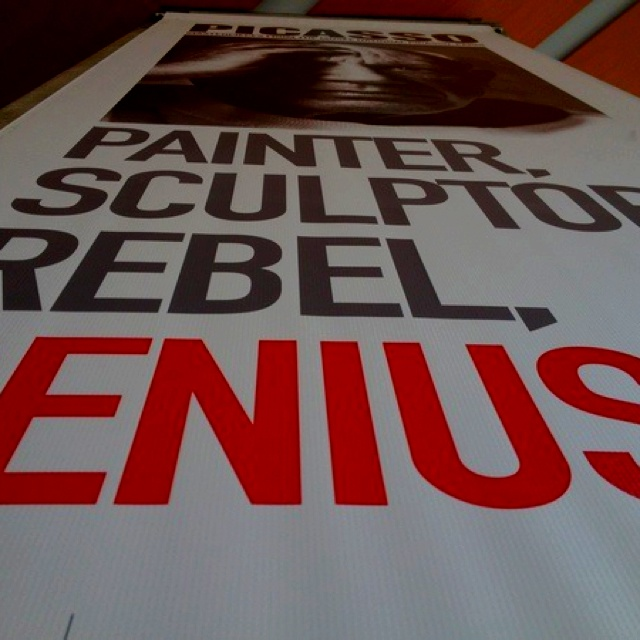 I took this picture at the Picasso exhibit in Toronto 2012. This was a Picasso poster.  - Source: @Bendrix (Upload)