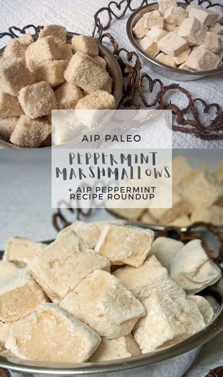 Peppermint Marshmallows + AIP Peppermint Recipe Roundup | Enjoying this Journey...