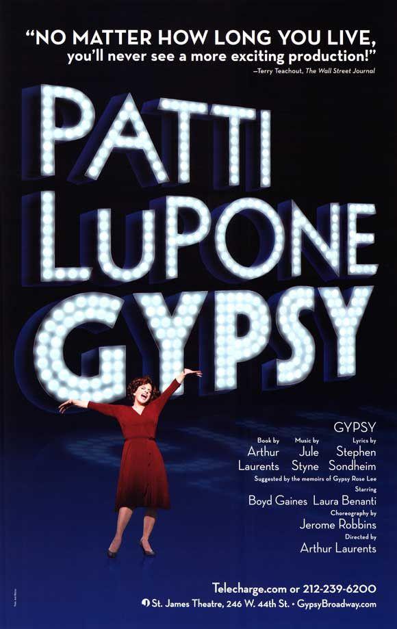 Patti Lupone Gypsy 11x17 Broadway Show Poster