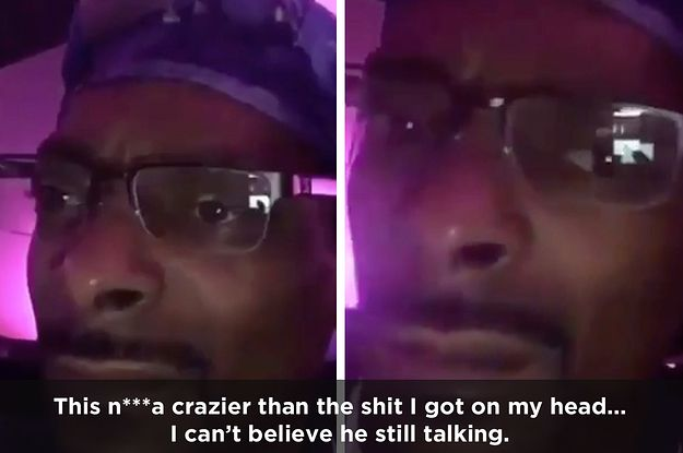 Watch Snoop Dogg As He Hilariously Despairs Through Kanye's Latest Concert Rant