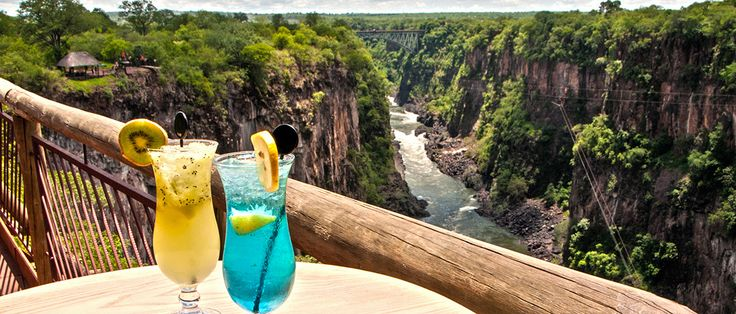 The Lookout Café offers fresh, tasty daytime dining and a spectacular view. It is perched 120m above the  Zambezi River. #VictoriaFalls #WildHorizons