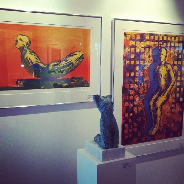 """@gallerifineart's photo: """"#nico#widerberg uke i galleriet. Velkommen! #tjuvholmen #fineart #grafikk #skulptur #oslo"""""""