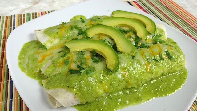 Mi Cocina Rapida: Enchiladas en Salsa de Aguacate y Chile Poblano