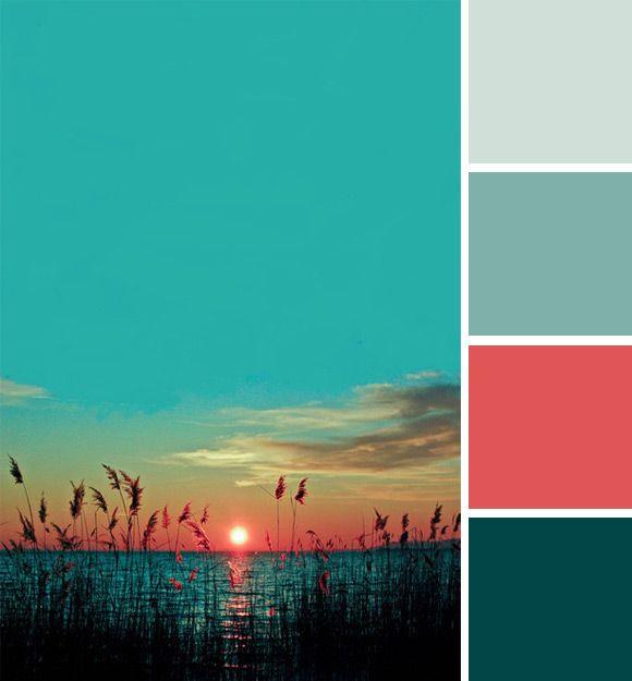 Na een warm zomerweekend met zinderende temperaturen genieten we nog even na met een zomers kleurpalet van de week.