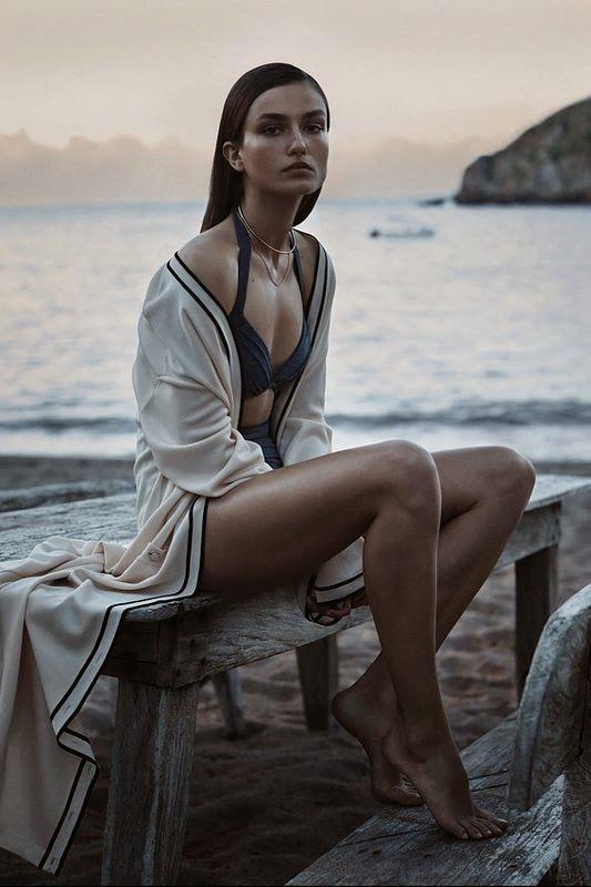 Andreea Diaconu by Josh Olins for WSJ Magazine