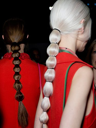 Bubble ponytail at Valentino