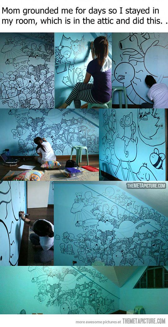 Awesome Adventure time wall painting