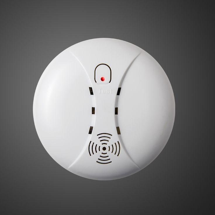 Detector de Humos sin hilos/Detector de incendios alarma de humo para Panel wifi Inalámbrico Para El Teclado Táctil GSM Sistema De Seguridad Casero sin batería