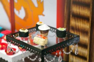 Sushi sweets from a Ninjago Lego Ninja Birthday Party on Kara's Party Ideas | KarasPartyIdeas.com (8)