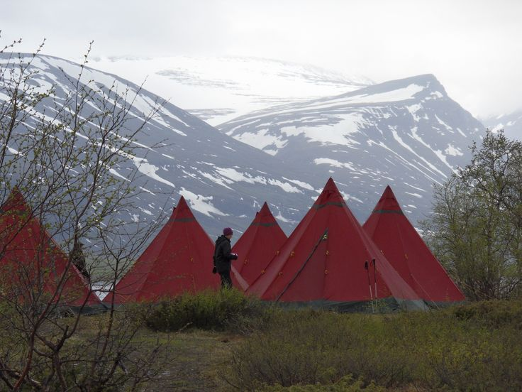 Camping at the foot of Kebnekaise, the highest mountain in Sweden. Photo by Fredrik Broman