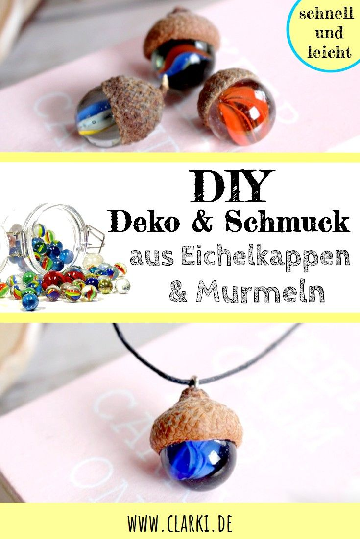 DIY im Herbst: Deko aus Murmeln und Eichelkappen