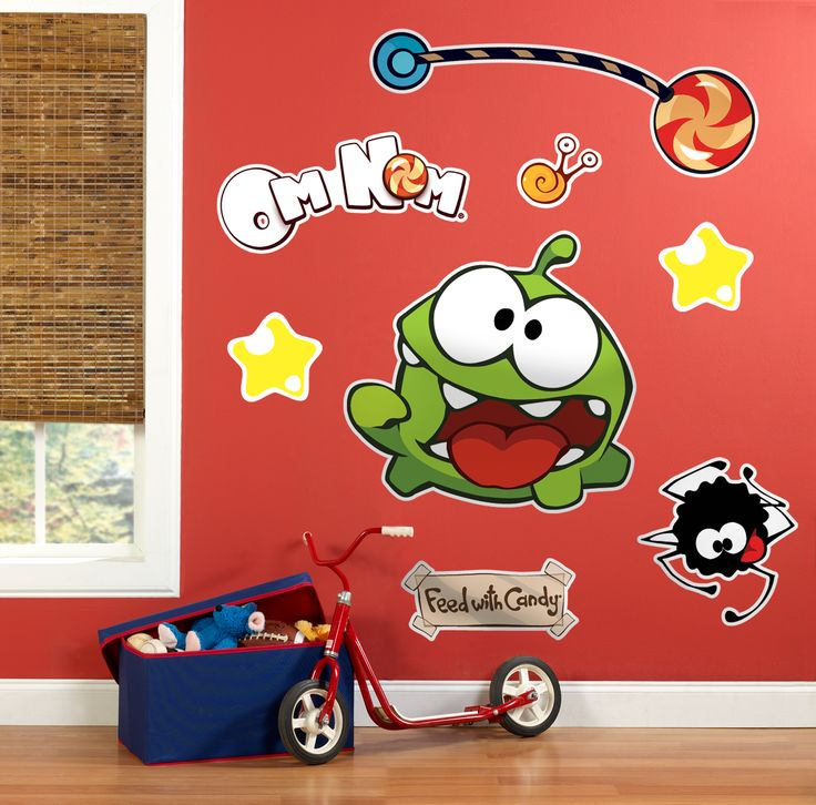 Cut the Rope party! Check out the wall clings! #cuttherope #omnom #BirthdayExpress