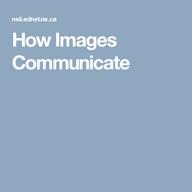 How Images Communicate