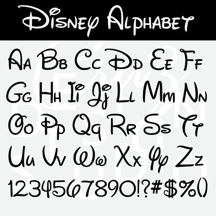 Alfabeto Disney, Disney SVG, EPS, PNG, DXF, Disney Font, Silhouette, Cric …   – Alphabet