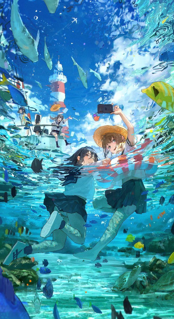 トマ斗/tomato on Twitter in 2020 Anime scenery wallpaper