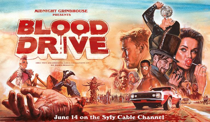 Check out the Latest Uncensored Clips From Syfy's Blood Drive Debuts Wednesday the 14th of June 2017 at 10-9C.on Syfy Trailers, Clips and Key Art Reveal. Series Creator: James Roland    Check out these Violent clips for Syfy's upcoming Blood Drive, Post Apocalyptic Series Drop Adrenaline Clips, Key Art #blooddrivesyfy #syfy #blooddrive #horror
