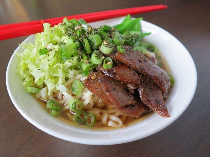 Smoky Tea Ramen with Wild Mushroom Chashu. Wonderful vegan ramen recipe from our Urban Foodie.