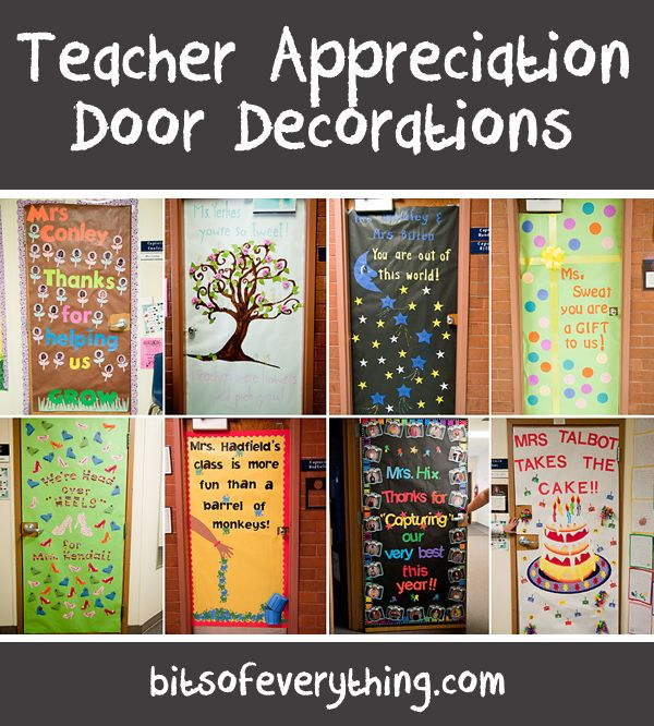 138 best images about teacher appreciation doors on for Staff decoration