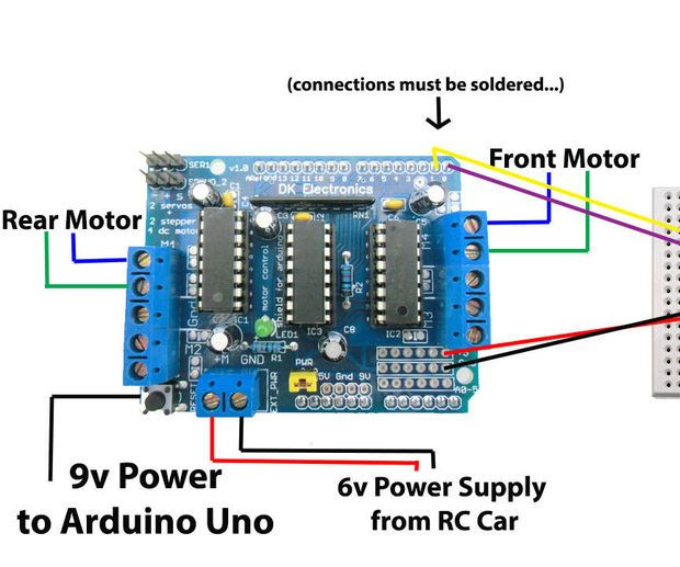 Another Arduino Remote Control Car Controlled By Android Phone