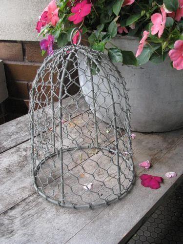 Chicken Wire Cloche - Uptown Casual