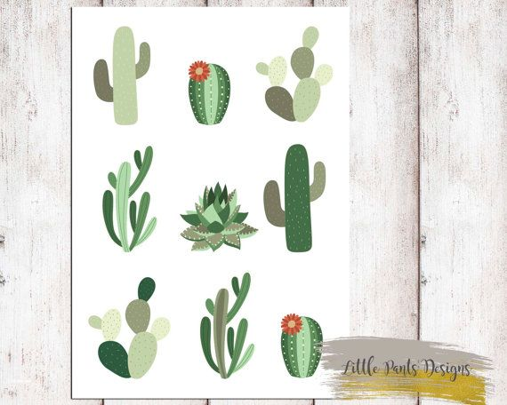 Cactus Digital Print Fun Poster. Downloadable Printable Digital Graphic Aztec Tribal Cactus DIY Artwork Green Mexican by LittlePantsDesigns on Etsy