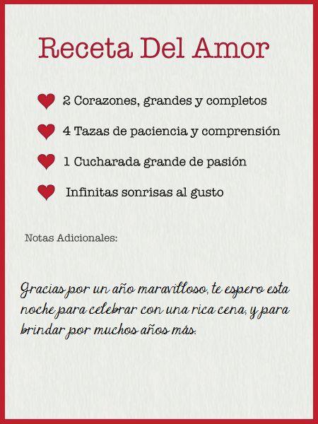 Receta del Amor-Celebra con estilo con las invitaciones y tarjetas virtuales de LaBelleCarte: www.LaBelleCarte.com