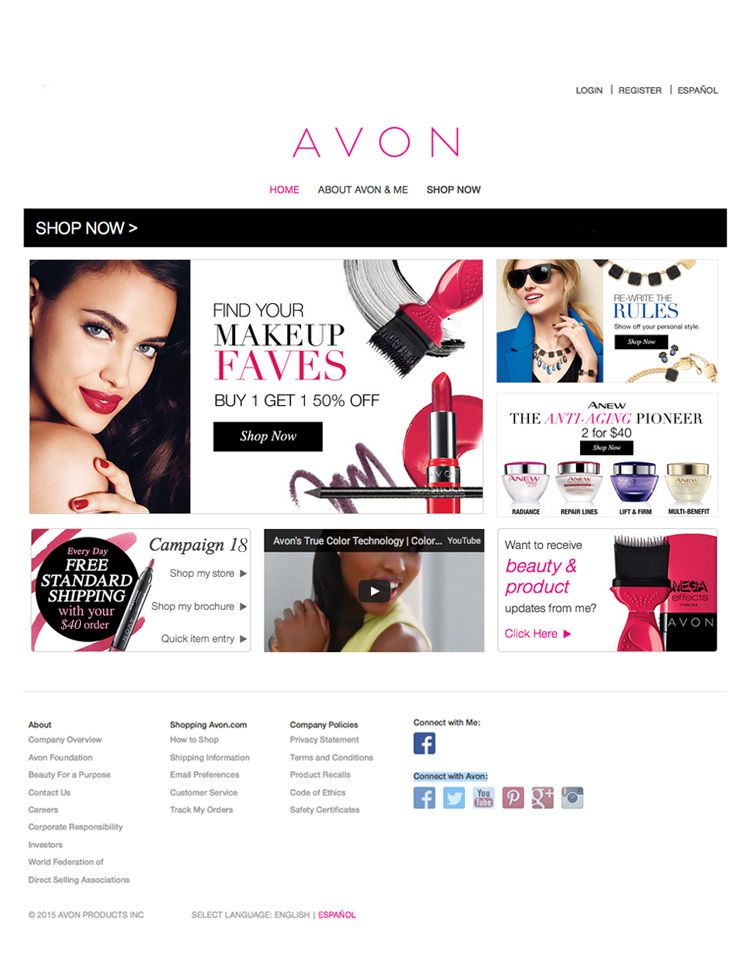 online store sale Why buy from a big chain store when you can buy from a friend   AvonRep