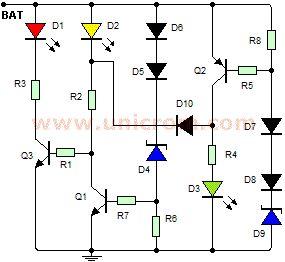 Индикатор напряжения автомобиля (печатная плата)   Indicador de voltaje para automóvil (circuito impreso)