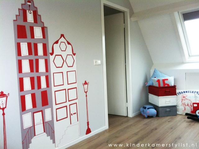 #jongenskamer #maatwerk #behang | Ontwerp Kinderkamerstylist.nl