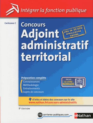 Concours Adjoint administratif territorial - Catégorie C 9e édition Pascal Tuccinardi Collectif