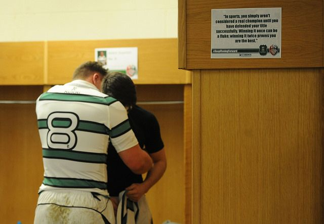 """In sports, you simply aren't considered a real champion until you have defended your title successfully.  Winning it once can be a fluke; winning it twice proves you are the best.""  (Althea Gibson - quote displayed in the SURFC changing rooms prior to their victory in the 2014 Welsh Varsity Cup Match)"
