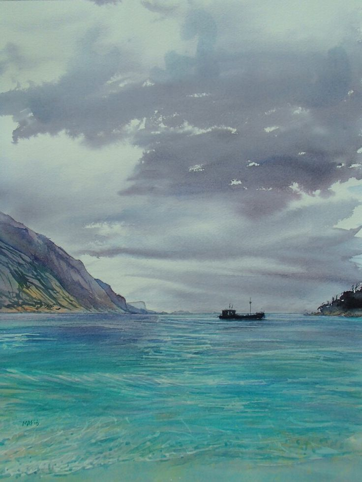 Wineglass Bay. Freycinet. East Coast Tasmania. Watercolour. Melhillswildart.