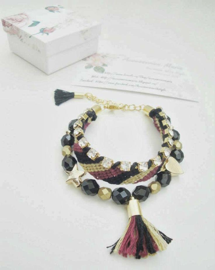 Accessories Maria #Colorful #bracelets #gold #handmade #jewelry #accessories #fashion #2014 #spring #summer #love #fericire #Sibiu
