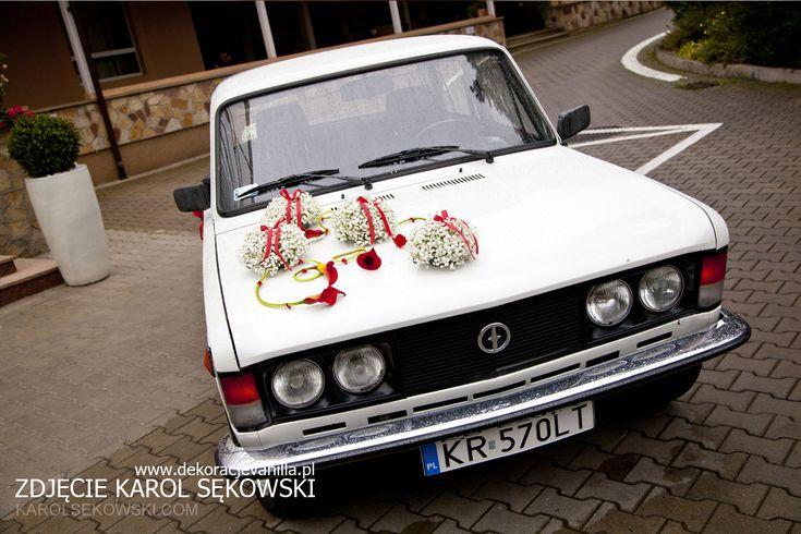 Dekoracja auta z gipsówką