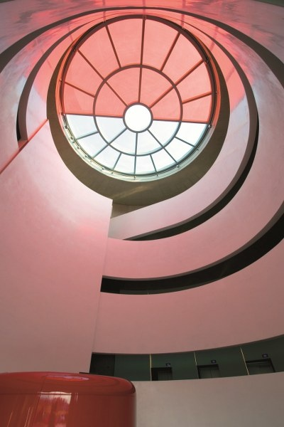 A detail from the interior of Brembo's headquarters .