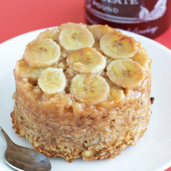 Banana Upside Down Cake Baked Oatmeal.