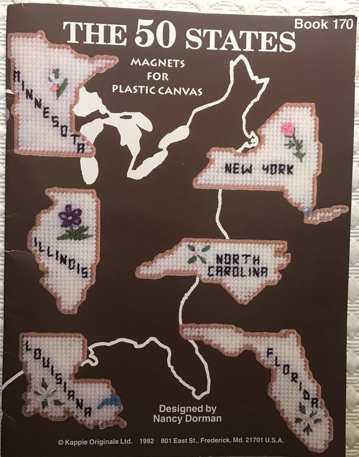 The 50 States u0026 Flowers Magnets for
