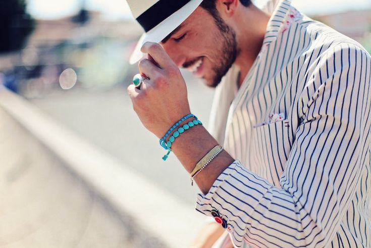"""The nineth picture in Mariano's style blog post """"CRUCIANI BRACELETS""""."""