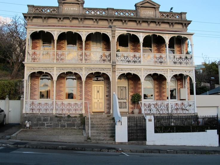 Old Terrace homes, Launceston, Tasmania